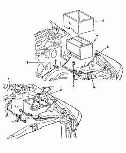 2006 Dodge Ram 2500 Battery Tray  U0026 Wiring