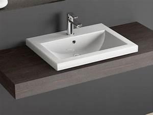 Küche Waschbecken Keramik : design keramik einbau waschtisch waschbecken 60cm weiss ~ Lizthompson.info Haus und Dekorationen