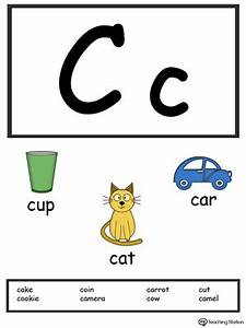 tracing and writing the letter c myteachingstationcom With letter flashcards for preschoolers