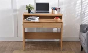 Bureau Console Extensible : bureau console extensible avec 2 tiroirs groupon ~ Teatrodelosmanantiales.com Idées de Décoration