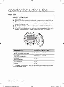 Operating Instructions  Tips  Rack Dry  Installing The