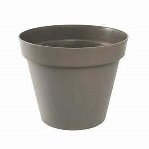 Castorama Pot De Fleur : pot en plastique toscane 80 cm taupe castorama ~ Melissatoandfro.com Idées de Décoration