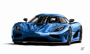 Koenigsegg Agera R Drawing (Blue Version) by pavee12120 on ...