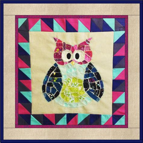 ticker tape owl quilt block favequiltscom