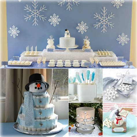 Winter Themed Baby Shower - winter baby shower inspiration station