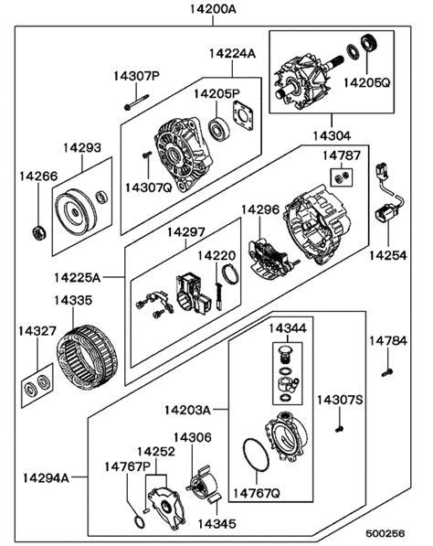 alternator vacuum pump for 1993 1995 mitsubishi l200 triton sportero strada k34t eur sales