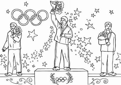 Coloring Olympic Games Winner Pages Fun