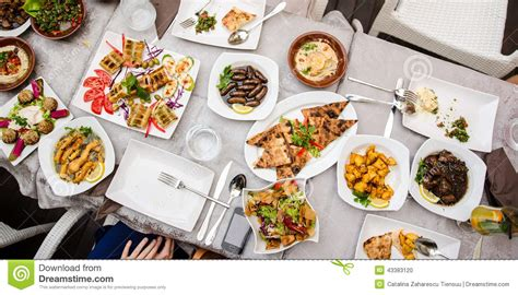 cuisine stock lebanese food at the restaurant stock photo image 43383120