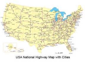 Cities In USA USA Map With States And Cities US Cities List Map - Map united states major highways