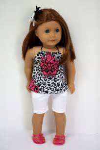 american doll clothes halter top and jean shorts