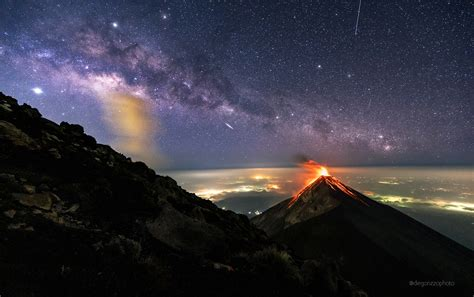 Apod 2019 May 27 A Volcano Of Fire Under A Milky Way Of