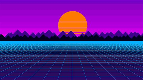 Dithering Outrun, Hd 4k Wallpaper