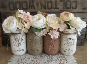 sale set of 4 pint mason jars ball jars painted mason