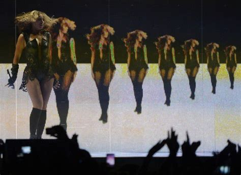 Beyonce Performs During The Super Bowl Xlvii Halftime Show