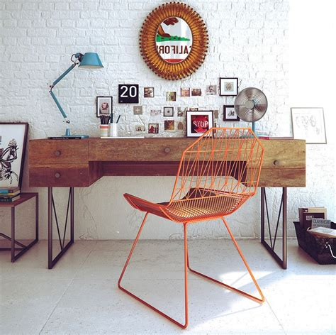 fauteuil de bureau retro retro workspace decor interior design ideas