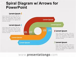 Spiral Diagram With Arrows For Powerpoint