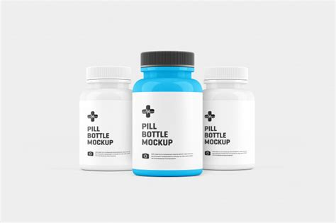 If you put your brand on these designs, just use the sample and you are all set. Pill bottle mockup | Premium PSD File