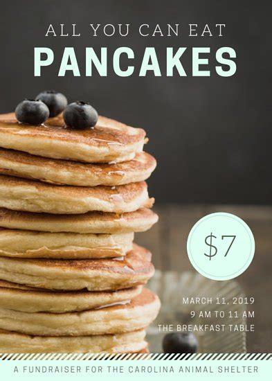 pancake breakfast fundraiser flyer template amulette