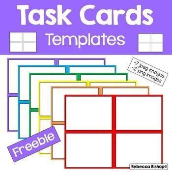 task card templates  rebecca bishop  task