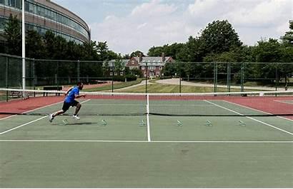 Tennis Court Play Sprint Drills Speed Cross