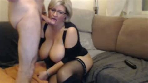 Short Haired Blonde Milf With Big Boobies Loves Being