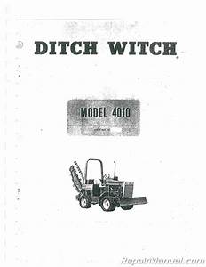 Ditch Witch Gas And Diesel 4010 Trencher Chassis Operators