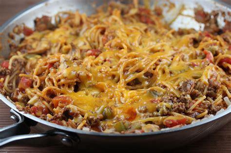 one pan recipes one pan skillet spaghetti recipe free delicious italian recipes simple easy recipes online