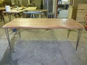 Pied De Table Bois : table de cuisine pieds pingle bois exotique robin sicle ~ Melissatoandfro.com Idées de Décoration