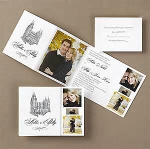lds wedding invitations lds wedding invitations plumegiant