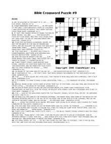 Free Printable Bible Crossword Puzzle