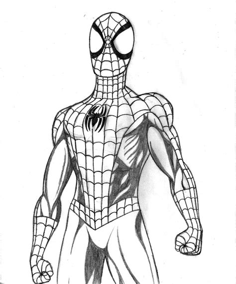 Drawn Spiderman Ultimate Spiderman  Pencil And In Color