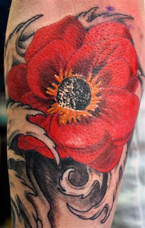 poppy  sleeve tattoos