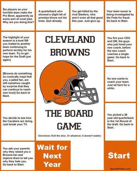 cleveland browns board game