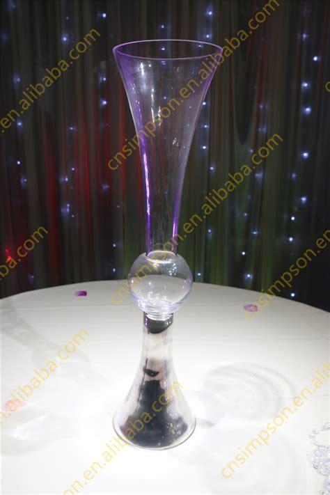 glass wedding vases centerpieces vase wholesale clear trumpet flower glassware decoration arrangment tall centerpiece cheap unique reversible hotel