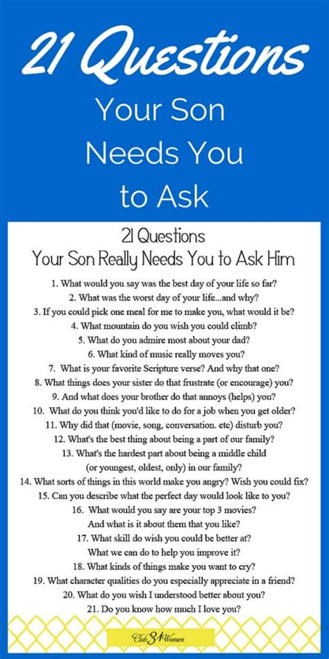 Free Printable 21 Questions Your Son Really Needs You To. California Debt Collection Law. Lowest Priced Auto Insurance. Windows Phone Texting App Gate Repair Dallas. What Is Cisco Training Reston Surgical Center. Benefits Of Vinyasa Yoga Braces For Teenagers. Culinary Institute Hyde Park Ny. Project Management Education Hours. Who Is Required To Have Workers Compensation Insurance