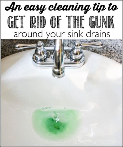 how to clean your kitchen sink drain how to clean the gunk around the sink drain ask 9365