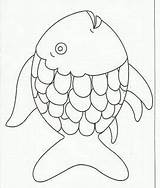 Fish Coloring Craft Rainbow Page2 Multicultural Esl Stuff Paper Glue Preschoolers Creation Crafts Pages sketch template