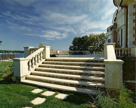 granite steps  balustrade  granite rail