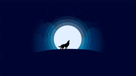 Low Poly Wallpaper 1920x1080 Wolf With Full Moon Minimalist Design Wallpaper Wallpaper Studio 10 Tens Of Thousands Hd