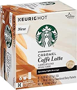 Sometimes you just need that extra shot of espresso! Starbucks Caramel Caffe Latte Specialty Coffee Beverage K-Cups 8.8 oz. Box: Amazon.com: Grocery ...