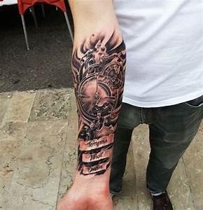Tattoo Unterarm Schrift : tattoo schrift zifferblatt t a t i n k a n d t a t t o o s pinterest tattoo ideen ~ Frokenaadalensverden.com Haus und Dekorationen