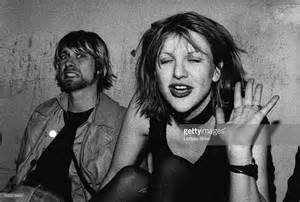 Images of Kurt Cobain and Courtney Love