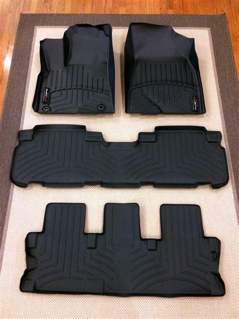 weathertech floor mats denver all weather floor mats toyota highlander 2016 carpet
