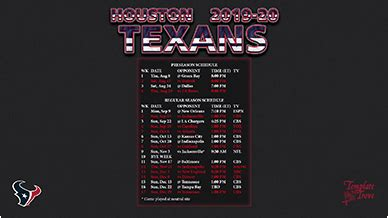 houston texans wallpaper schedule