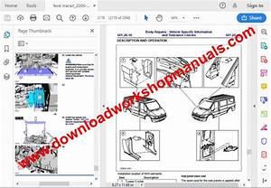 Ford Transit 2000 To 2014 Workshop Repair Manual