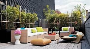 amenagement terrasse exterieure idees deco With idee amenagement terrasse exterieure