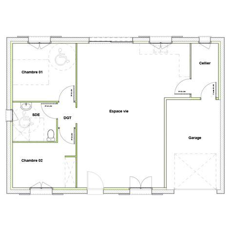 plan maison plain pied 100m2 3 chambres modle premium plainpied with plan maison plain pied 3
