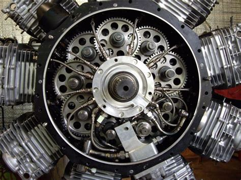 russell suttons honda radial engine  close  initial