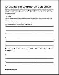 Best 25+ ideas about Depression Worksheets | Find what you\'ll love