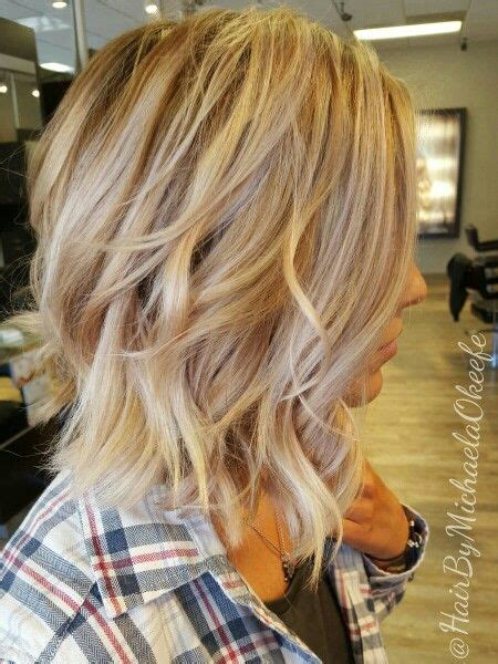dimensional blonde created with highlights lowlights and